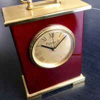 Classic solid wood and copper table clock