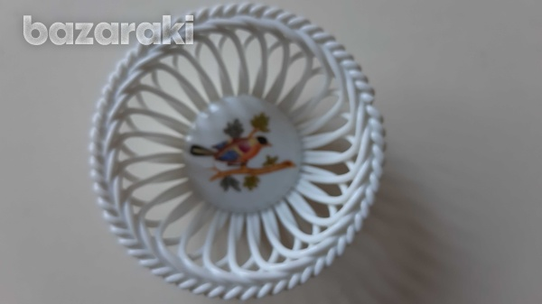 Small circular herend porcelain from hungary hand painted-1