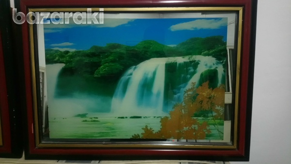 Picture frame with light up, movement, sound of nature up-2