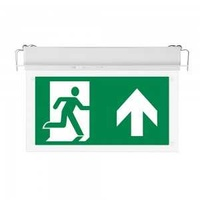 New 2w recessed fixed emergency exit light