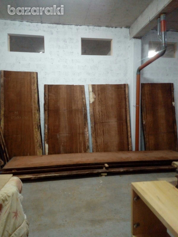Huge iroko wood for dining tables-1