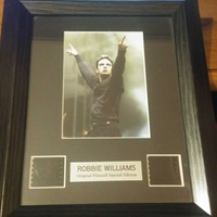 Robbie williams collectors edition framed film cell - limited edition