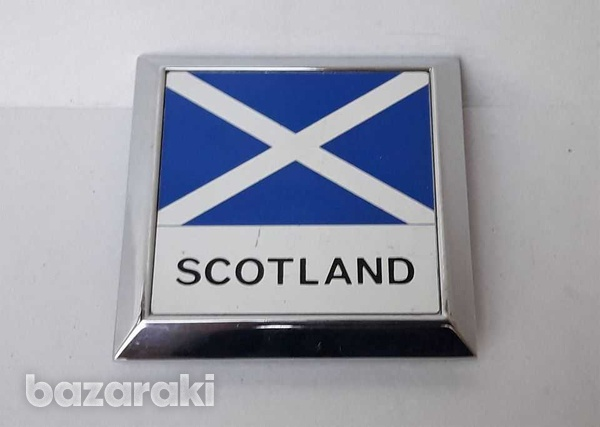 Vintage car badge scotland new never used in very good condition.-1