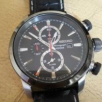 Seiko chronogrph alarm watch
