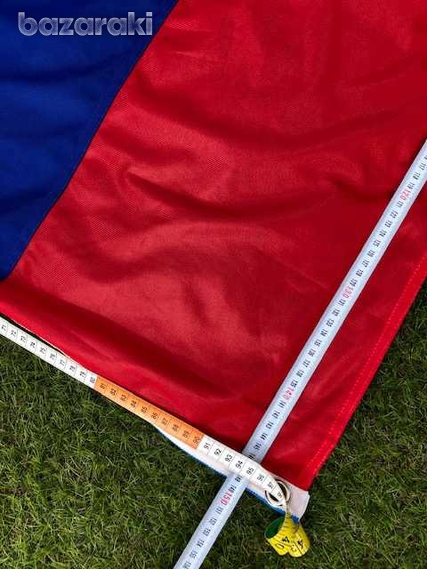 Huge russian/serbian flag 150x100 cm with a pole-2
