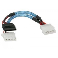 Inline 5.25 inch to sata and 5.25 inch power adapter cable