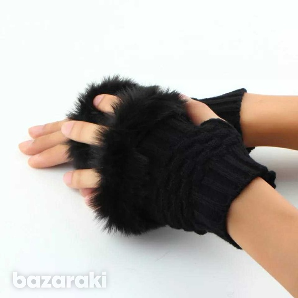 Knitted women's gloves-2