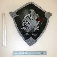 Fortnite black knight shield 40x45cm teen size with soulder straps