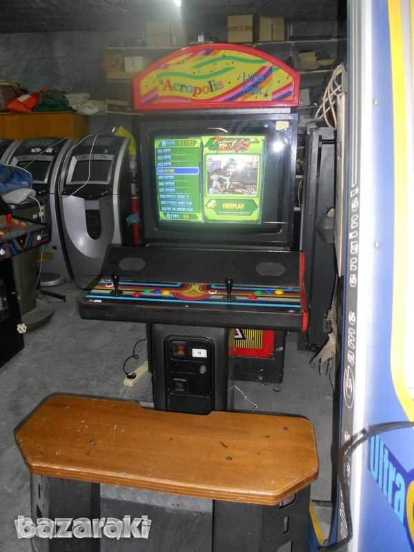 Arcade machine with 28 inch screen and seating-1