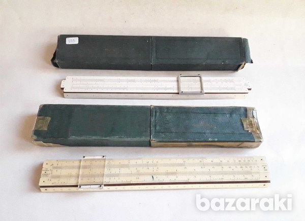 Vintage collectible p.i.c made in england slide rules with case,in ver-2