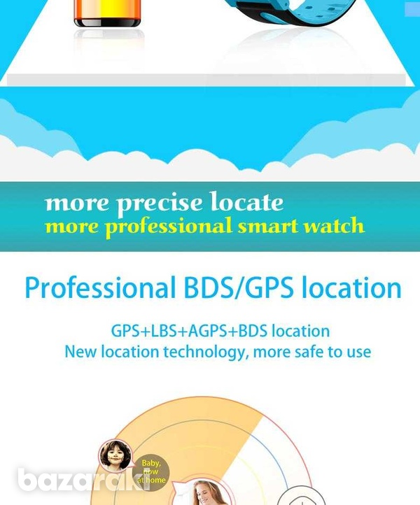 Children safe smart watch 2gtouch screen location tracker with came-10