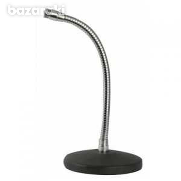Desk microphone stand straight with gooseneck 20cm