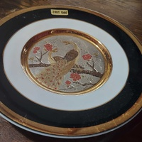 Chokin japanese decorative plate
