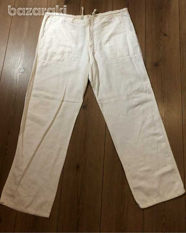 Black and white linen trousers - two available-4