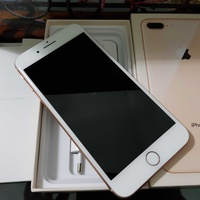 Apple iphone 8 plus 64gb, gold with box and accessories