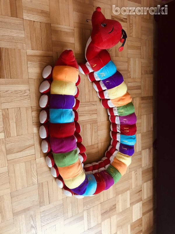 Soft toy caterpillar with abc sewn on each section-2