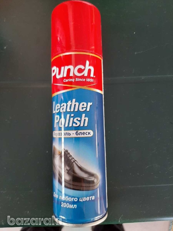 Leather polish spray for shoes