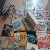 Wii games and console bundle