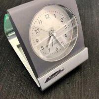 Travel folding alarm clock travel blue