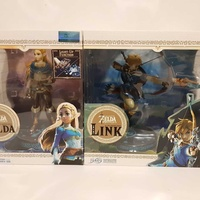 Zelda and link breath of wild 10 inch pvc statues