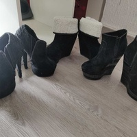 Boots wedge height heels 3 pairs