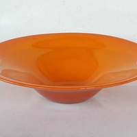 Vintage art glass bowl 23.5x8cm in very good condition for decor