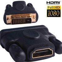 Dvi to hdmi cable female adapter converter hdtv