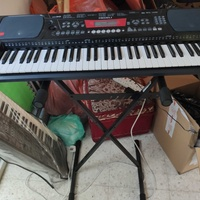 Brand new organ keyboard with stand