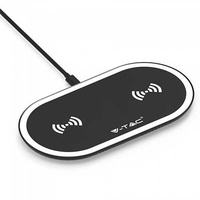 10w wireless charging pad black white