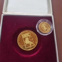 Sir winston churchill 90th birthday 1964 2-medal set in .900 gold