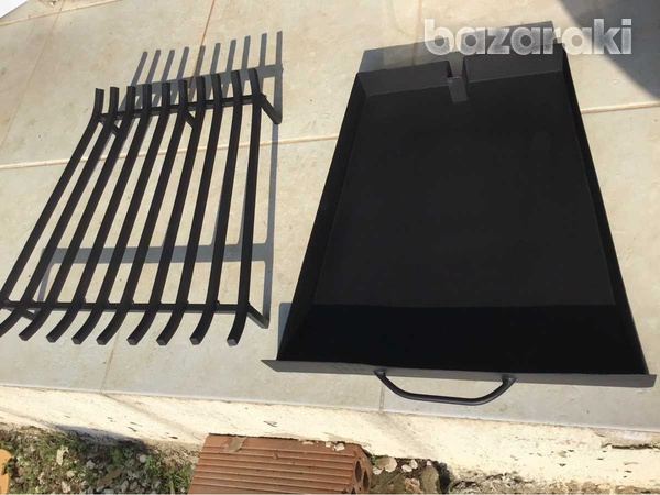 Grate for fire place with tray-2