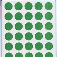 Avery stickers green 32 504 13mm 245 dots