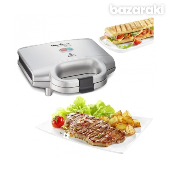 Moulinex sm1561 ultracompact sandwich maker, 700w, silver-3