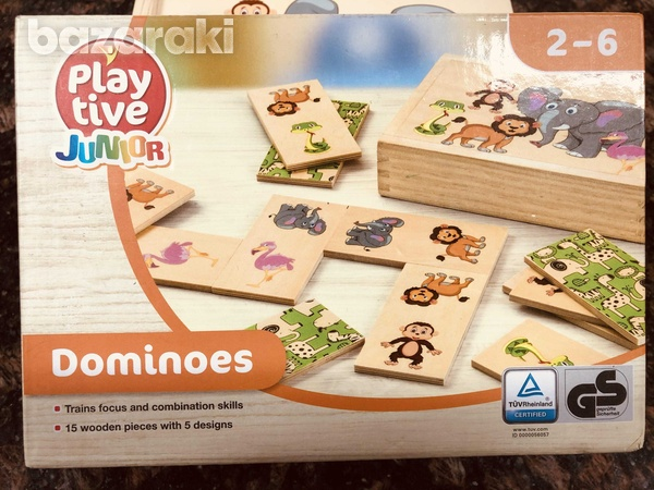 Wooden dominoes game-3