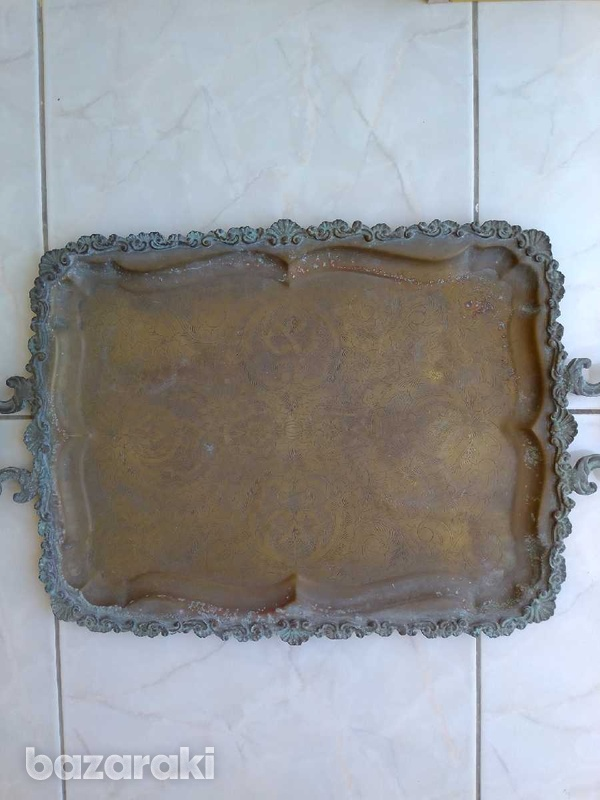 Tray antique from the year 1900.δισκος αντίκα από το έτος 1900.-5