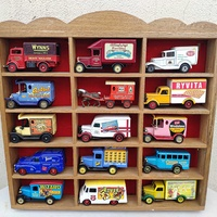 Vintage diecast cars days gone series with wooden display