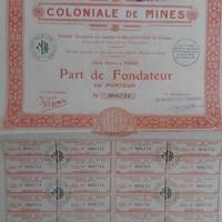 Share of coloniale de mines - 1930