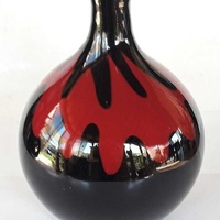 Vintage art glass vase 24x17cm in very good condition for decor