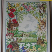 Hedgerow scene hand made