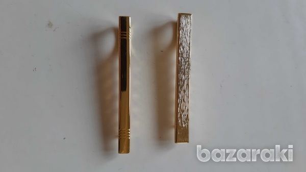 2 gold plated pins for ties-1