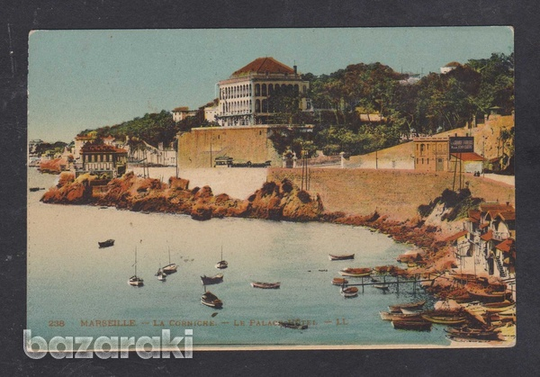 France postcard mailed to greece 1925 marseille le palace hotel-1