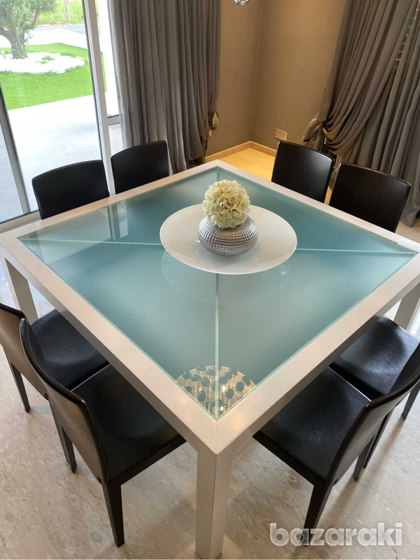 Square dining table with chairs-3