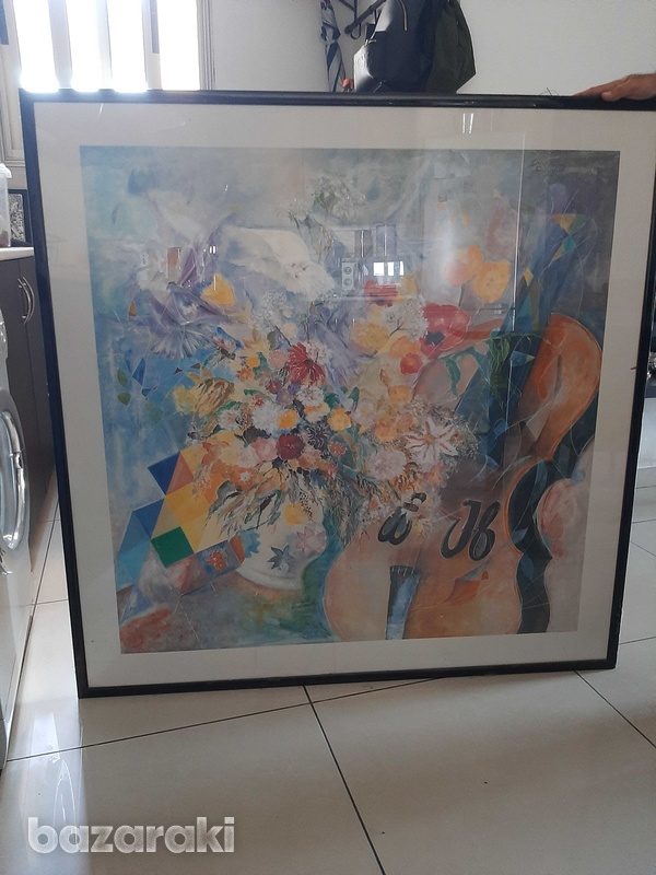 One x one metre print with frame and class-1