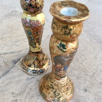 Set of two chinesse porcelain candle holders