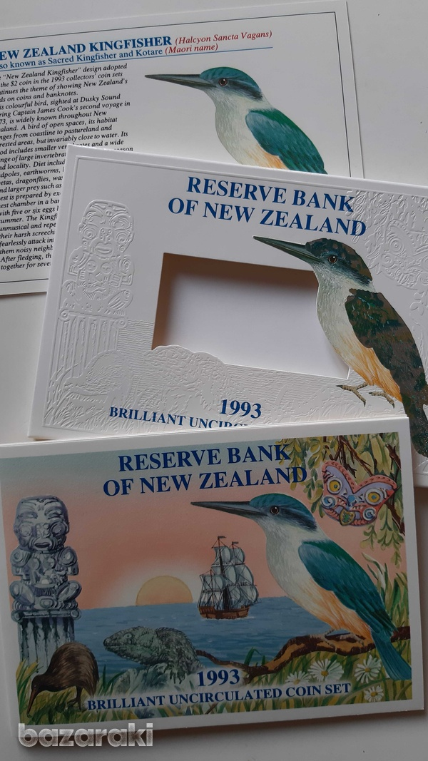 New zealand 1993 uncirculated coin set in blister - look at the photos-2