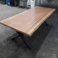Natural african sapele wood dining table