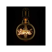Decorative led filament lamp with word love