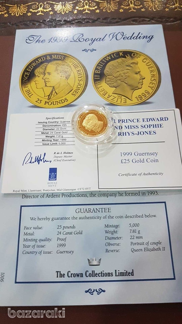24ct solid gold coin with certificate