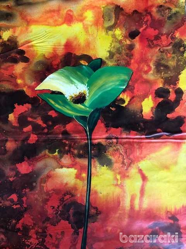 Floral painting oil on canvas-1