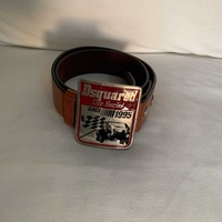 Authentic dsquared leather brown belt
